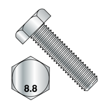 DIN 933 - Hex Cap Bolts - Full Thread - Class 8.8 - Zinc