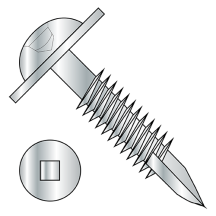Round Washer - Square Recess - Type 17 Point - Pocket Hole - Face Framing Screws - Fine Thread - Zinc