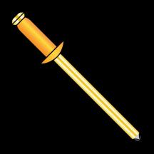 Copper Rivet With Brass Mandrel