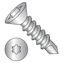 Flat - Six-Lobe - Self Drilling Screws - 18-8 Stainless