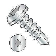 Pan - Six-Lobe - Self Drilling Screws - 18-8 Stainless
