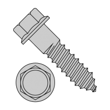 Indented Hex Flange Lag Screw Grade 2 Hot Dip Galvanized