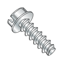 Hex Washer - Slotted - Generic Alternatives to Plastite® - 48-2 Thread Rolling Screws* - Zinc