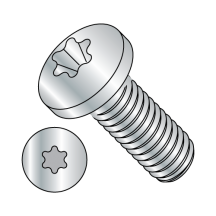 Din 7985 Metric 6 Lobe Pan Head Machine Screw Full Thread Zinc Rohs