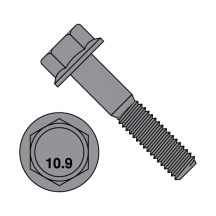 DIN 6921 - Hex Flange Bolts - Class 10.9 - Black Phosphate