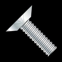 Phillips Flat Undercut 100 Degree Machine Screw Fully Threaded Zinc