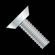 Square Drive Flat Head Undercut Machine Screw Fully Threaded Zinc