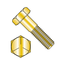 Grade 5 - Hex Head Bolts - Cadmium Yellow
