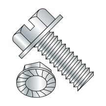 Serrated - Hex Washer - Slotted - Machine Screws - Zinc
