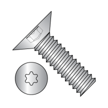 Six Lobe 100 Degree Flat Head Machine Screws