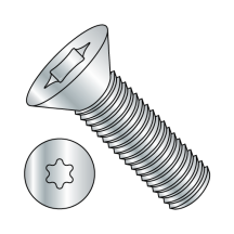 Flat 82° Six Lobe - Machine Screw - Zinc