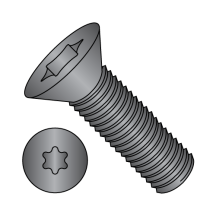 Flat 82° Six Lobe - Machine Screw - Black Oxide