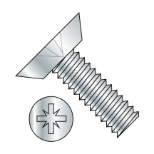 Pozi Drive Alternative Type 1A Recess Flat Undercut Machine Screw Fully Thread Z