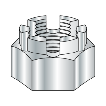 Castle Nut - Grade 5 - Steel - Zinc Plated
