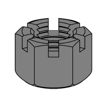 Slotted Hex Nuts - Heavy Pattern - Plain Finish