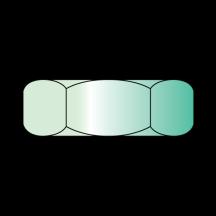 Small Pattern Hex Machine Screw Nut Zinc and Green