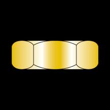 Small Pattern Hex Machine Screw Nut Zinc Yellow