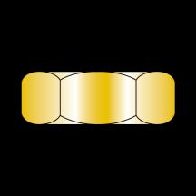 Hex Jam Nut Grade 8 Zinc Yellow