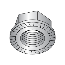 Serrated Flange Hex Lock Nuts 18 8 Stainless Steel