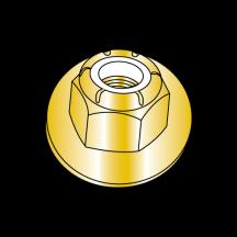 Nylon Insert Flange Non Serrated Lock Nuts