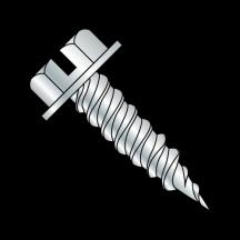 Slt Ind Hex Washer 1 4 Across The Flats F T Self Piercing Scr Needle Pt Zinc