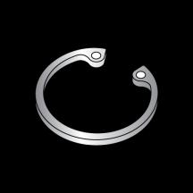 Carton: 100 pcs 1.000 Internal Style Retaining Rings//Stainless Steel