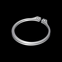 Carton: 100 pcs .875 E-Style Retaining Rings//Stainless Steel