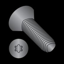 6 Lobe Flat Taptite Thread Rolling Scrw alternate Fully Thread Black Oxide Wax